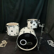 Dw Performance Pearlescent White Schlagzeug Lacquer Drumset Usa Drumkit