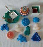 Vintage Soviet Set Of Toys For Playing With Sand Plastic Ussr Original Rare
