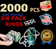 2000 Pack Six Pack Ringers Beer / Soda Cans Liquor Plastic 6 Pack Rings New