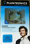 Lot Of 5 Plantronics Mx200s Stereo Mobile Headset E2 For Sony Ericsson