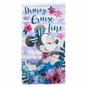 Disney Cruise Line Minnie Mouse Large Beach Towel, New