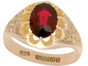 2.57ct Garnet And 9k Rose Gold Solitaire Ring - Antique 1913