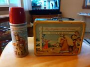 Vintage American Thermos Bottle Co Roy Rogers Dale Evans Lunchbox And Thermos C2