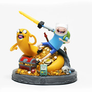 Adventure Time Exclusive Limited Edition Jake And Finn Statue Polystone 7.87 Tall