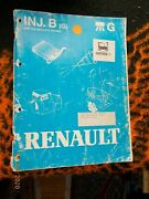 Renault Bosch Multi-point Fuel Injection System Component Service Manual By Amc