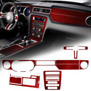 14x Central Consonl Dashboard Panel Trim Decor Cover Kit For Ford Mustang 09-13