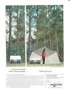 1963 Vintage Camping Ad Apache Chief Pop Up Camper Cool Cabin Art