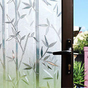 Static Cling Window Privacy Door Decorative Glass Film Bamboo Stained Glass
