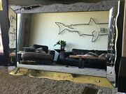Vintage Mid-century Etched 1950and039s Mirror 54x36