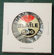 1964 Vintage Beatles I'm A Beatle Bug Pin Vend Machine Prize Rock And Roll Red