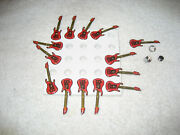 13 Coors Light Beer Lighted Guitar Magnets 2 1/2'' Long Rare