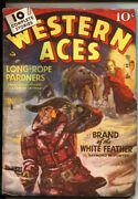 Western Aces--april 1941--george Gross Cover--gold Dust Kid Appears--rare Pulp