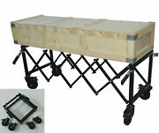 Us Carbon Steel Funeral Stretcher Mortuary Cot Church Truck Mortuary Supplies