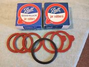 Vtg Ball Canning Jar Rubber Rings Box Misc. Lot Of 30