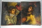 Paire De Tableaux Xvii/xviii Anciens Antique 2 Old Master Painting On Wood