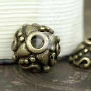 75pcs Diy Lots Antique Brass End Beads Caps Jewelry Findings Round 9x9x5mm