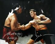 Jean Claude Van Damme And Bolo Yeung Autographed Body Shot 16x20 Photo Asi Proof