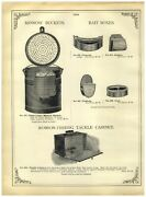 1902 Paper Ad Robson Fishing Tackle Cabinet Minnow Bucket Trap Oval
