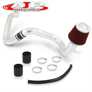 2.5 Chrome Piping Cold Air Intake System Filter For 2001-2005 Honda Civic Dx Lx