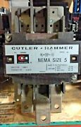 Cutler Hammer C10gn3 3p 270a Ser A1 Size 5 Contactor W/120v Coil Used