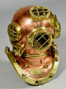 Pure Copper And Brass Heavy Diving Helmet Full Size Handcrafted Diving Helmet
