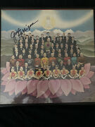 Signed George Harrison Vinyl W/certificate Of Authenticity And Framed