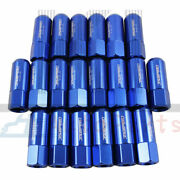 20pcs Blue M14x1.5mm Aluminum Tuner Racing Extended Forged 60mm Wheel Lug Nuts