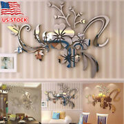 Exquisite Flower 3d Mirror Wall Stickers Removable Decal Art Mural Home Decor