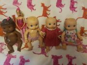 Baby Alive Doll Lot Three 2006 Wet N Wiggles + 2008 Baby Alive And A Barbie