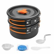Outdoor Cookware Camping Cooking Set Pot Pan Bowls Anodized Aluminum 2 Persons
