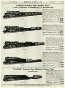 1940 Paper Ad Tru Model American Flyer Electric Train Sets Ho New York Central