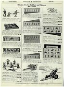1940 Paper Ad Britain's Pewter Toy Soldiers Cannon Guns Howitzer Ramc Army
