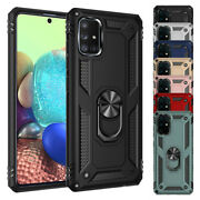 For Samsung Galaxy A51 A71 Case Shockproof Hybrid Armor Ring Stand Case Cover