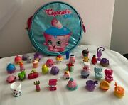 Shopkins Lot Of 34 +cupcake Case.many From Season 4 /wooly Hatmilk Bud And More
