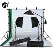 Professional Photography Lighting Equipment Kit With Softbox Soft Background Sta