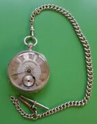 1898 - Antique Victorian Solid Silver Open Face Pocket Watch - John Forrest