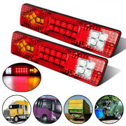 Trailer Tail Lights Truck Rear Turn Signal Red 1.5w Rv Accessory Parts