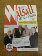 29/01/1994 Walsall V Carlisle United . Please Find This Item Offered By Bobfran