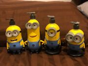 Madelyn Minions Bath And Shower Set 4 Charactor