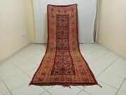 Handmade Vintage Moroccan Rug 3and03928x9and03971 Feet Berber Old Moroccan Boujad Carpet