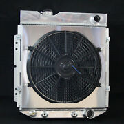 Aluminum Radiator For Ford Mustang Comet Falcon V8 63-66 3 Row With Fan Shroud