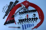 Pe322r Racing Chevy V8 Hei 65,000 Volt Coil +9.5mm Spark Plug Wires+holder