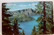 Oregon Or Crater Lake Union Oil 76 Gas Postcard Old Vintage Card View Standard