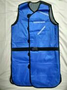 New Blue X-ray Protective Protection Double Side Lead Apron 0.5mmpb