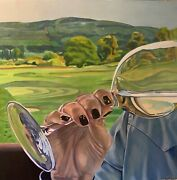 Wine And Golf - Gleneagles - Figurative/landscape Art Orig Oil/can 36x36 Buy Now