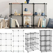 6/8 Cubes Wire Mesh Diy Bookcase Shelving Unit Display Storage Shelf Home Office