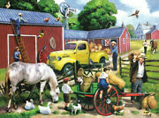 Sunsout - Summer Farm Days By Kevin Walsh - 1000 Pc Puzzle / Complete Ln