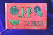 Enamel Sign Board Vintage Advertising J.p. Cables London Ph-43