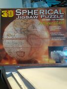 Antique Globe 530 Pieces 3d Spherical Jigsaw Puzzle By Buffalo Game New Sealed