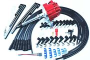 Sbc Bbc Hei Distributor 65k+9.5mm Spark Plug Wires Straight Boot W/wire Holder